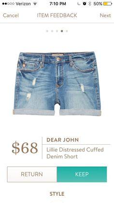 Dear John Lillie Distressed Cuffed denim shorts - distressed light wash denim shorts