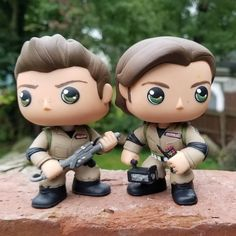 Custom Ghostbuster Jensen Ackles and Jared Padalecki from the Hillywood Supernatural Parody 2 Pop Custom, Custom Funko Pop, Rocky Bar, Supernatural Pop, Disney Clipart, Ghost Busters, Winchester Brothers, Pop Figures, Best Series