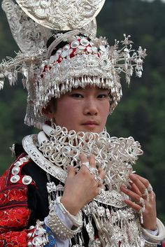Woman photographed during the  Sisters' Meals Festival Of Miao Ethnic Group, China |  © Rudi Roels, via Flickr