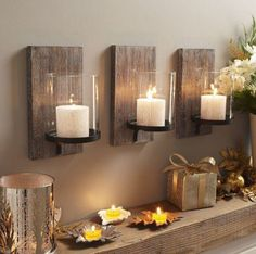 Create these with leftover oak flooring