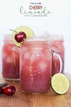 Recipes-Drinks| homemade-cherry-limeade-recipe-summer-drink