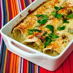 Green enchiladas (by Improv Kitchen)