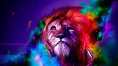 Lion Abstract Wallpaper Mobile N56