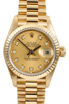 Vintage Watches: Rolex & More Rolex Women's 18K Yellow Gold President Watch $8,200.00