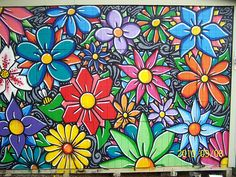 Grasp Flower Mural | flower mural using Sabotaz80 Ft. Worth,… | BeyondGrasp | Flickr