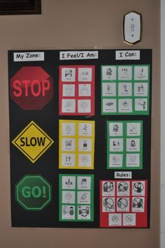 Zones of Regulation: helpful for children with a sensory processing disorder or autism spectrum disorder Autism Sensory, Sensory Activities, Therapy Activities, Articulation Activities, Play Therapy, Speech Therapy, Emotional Regulation, Self Regulation, Classroom Behavior