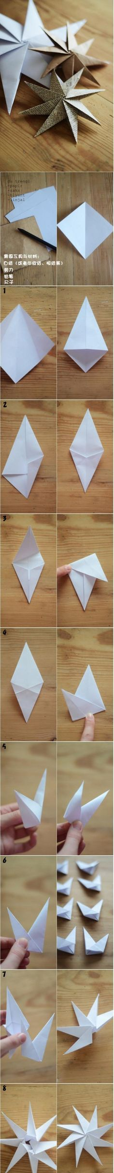 DIY Paper Stars diy craft crafts craft