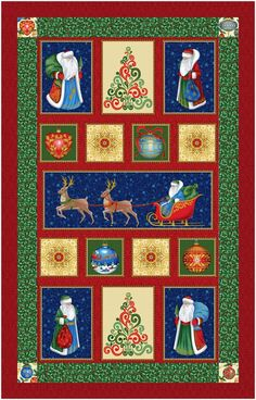 """This free quilt pattern is called """"Father Frost's Ornaments"""". It's never too early to get ready for the holidays!"""