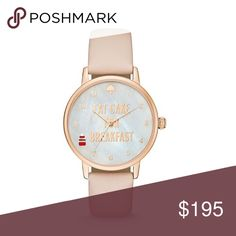 Kate Spade Eat Cake For Breakfast Watch Kate Spade metro 3 hand vachetta watch. Round stainless steel case. White mother of pearl dial. 3 hand movement. 3 ATM water resistant. Approx. 34mm case and 16mm lug width. Vachetta leather strap. Tan. Price is firm. kate spade Accessories Watches