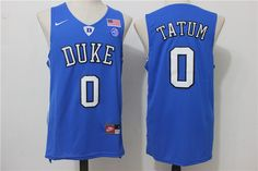 Duke Blue Devils 0 Jayson Tatum Blue College Basketball Jersey