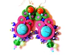 Soutache Earrings  Inez by olaboga on Etsy, $15.00