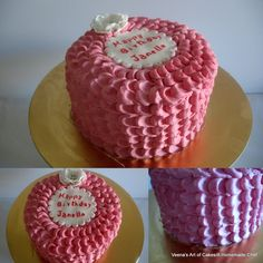 Veena's Art of Cakes: A Pink Buttercream Petal Cake Tutorial