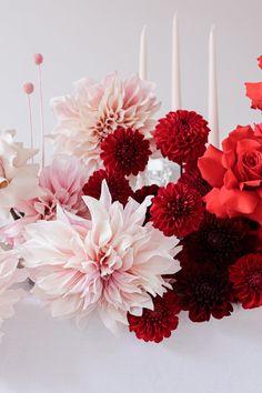 Bridesmaid Flowers, Bridal Flowers, Wedding Bouquets, Wedding Reception Design, Wedding Table, Red Rose Wedding, Floral Wedding, Pretty Flowers, Red Flowers