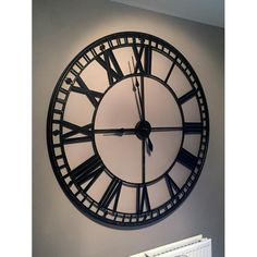 Large Black Wall Clock large 120cm ancient antique black wall clock | carol | pinterest