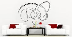 Filante Star Wall Stickers: this set of stars in an artistic swirl will deck your room in a modern and romantic way.   Visit this link for more designs: https://limelight-vinyl.myshopify.com/