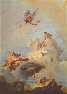 Artist: Giovanni Battista Tiepolo - all paintings from this artist available as fine art prints, canvas prints, paper prints or hand painted oils. Classic Paintings, Old Paintings, Aesthetic Painting, Aesthetic Art, Rococo Painting, Rennaissance Art, Art Et Architecture, Baroque Art, Art Et Illustration
