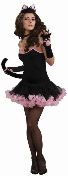 Cat costume with pink petticoat