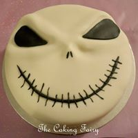 Jack Skellington cake by The Caking Fairy. Made for Halloween. Jack Skellington Cake, Celebration Cakes, Halloween Face Makeup, Fairy, Shower Cakes, Holiday Cakes, Angel