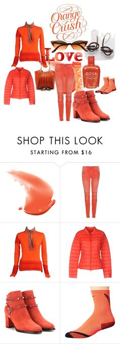 """***orange***"" by michelle858 ❤ liked on Polyvore featuring True Religion, Zoya, Giorgio Armani, Vivienne Westwood, Patrizia Pepe, Valentino, NIKE, CO, Winter and orange"