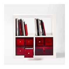 LEKMAN Organizator 2 sertare - roşu - IKEA