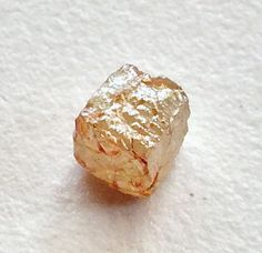Orange Rough Diamond Cube Natural Diamond Cube by gemsforjewels