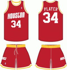 602305644 Houston Rockets Road Uniform 1977-1995 Houston Rockets