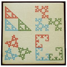 Fractals in cross stitch by Larry Riddle | Bridges Math Art Galleries