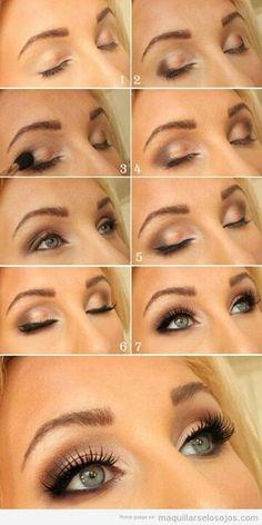 Beige daytime makeup