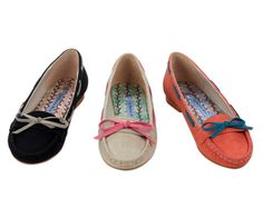 Super cute for Spring! Vintage Bow-Tie Loafers, I love the orangy-red ones! $44