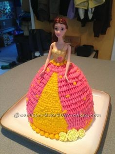 I offered to make a Barbie doll cake for my friend's daughter's 5th birthday.  I used the Wilton Wonder mold pan rented from my local cake supply sto...