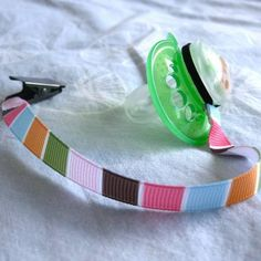 DIY Pacifier Clips - May make these for my cousins baby