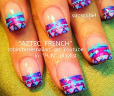 Aztec french tip nails