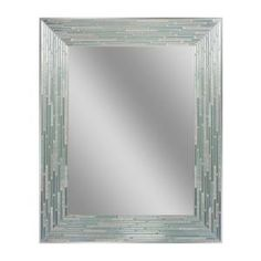 Deco Mirror 30 in. L x 24 in. W Reeded Sea Glass Wall Mirror 1205 at The Home Depot - Mobile