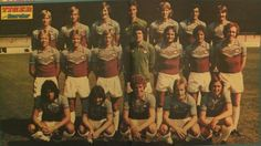 The photo call from the Tiger & Scorcher comic still sitting in my old wardrobe. This time limited to the first team squad with the youth players sent to run around the pitch. West Ham, One Team, Irons, Football Team, Pitch, Squad, Dan, Youth, Comic