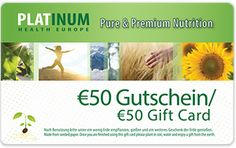 Gesundinform - Platinum Health Marketing, Health And Nutrition, Pure Products, Health Products, Coding, Fitness, 50 Euro, Success, Gift Cards
