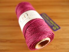Hemp Cord - Magenta- #20 20lb / 1mm cord Hemptique - Five (5) Metres -   Jewellery Making Stringing Knotting Cord Thong  by LoveEllieBagMaking Find it now at http://ift.tt/2aqrAVc!
