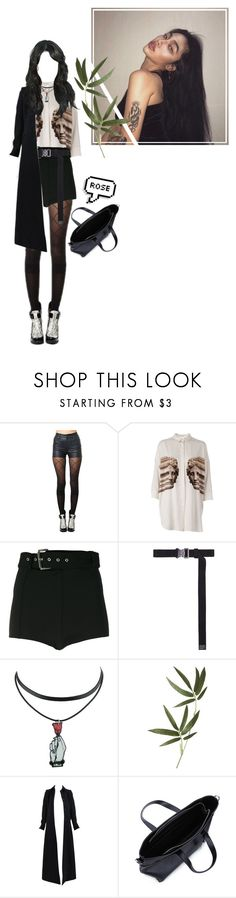 """""""ROSE DRAGGING AMBER SHOPPING"""" by dino-official ❤ liked on Polyvore featuring Pretty Polly, Neil Barrett, Versus, Alyx, Crate and Barrel and Alaïa"""