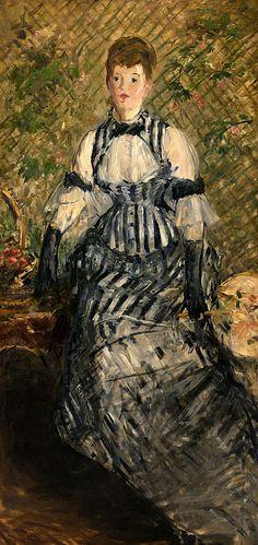 Édouard Manet (1832-1883) - Woman in Evening Dress, 1877-80