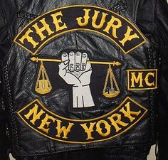 The Jury MC - my most favorite group of people ❤️ Motorcycle Mechanic, Motorcycle Logo, Motorcycle Clubs, Motorcycle Jackets, Bike Gang, Gangs Of New York, Biker Clubs, Biker Patches, Color Club