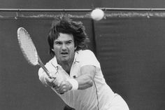 """James Scott """"Jimmy"""" Connors (born September in East St. Louis, is a former World No. 1 tennis player from the United States. Jimmy Connors, Motivational People, James Scott, Tennis Players, Illinois, Hero, September 2, St Louis, United States"""