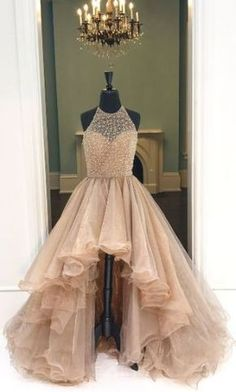 Champagne High Low Evening Prom Dresses, Long A line Party Prom Dress, Custom Long Prom Dresses, Cheap Formal Prom Dresses Champagne Evening Dresses Evening Dresses Cheap Prom Dresses Long Prom Dresses A-Line Evening Dresses Prom Dresses Long High Low Prom Dresses, Prom Dresses For Teens, Prom Dresses 2018, Ball Gowns Prom, Tulle Prom Dress, Cheap Prom Dresses, Prom Party Dresses, Evening Dresses, Gown Dress