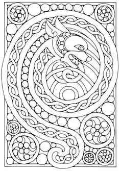 find this pin and more on coloriages awesome celtic dragon coloring - Celtic Coloring Book