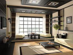 Японский интерьер: как обустроить спальню, кухню и гостиную