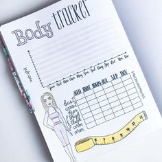Bullet Journal Body Tracker to Track your progress