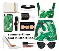 """""""Harry's fav quote from MITAM"""" by styles-fashions on Polyvore featuring Dolce&Gabbana, Gianvito Rossi, Tory Burch, Quay, Miss Selfridge, Marc by Marc Jacobs, Essie and Maybelline"""