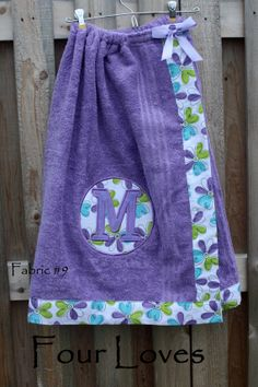 Adult and Child Spa Wrappurple towel with purple and by FourLoves, $32.00