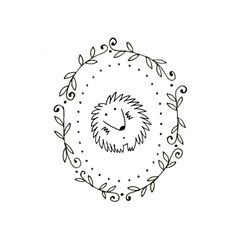 Hedgehog Embroidery Pattern Printable Woodland Animal Digital Downloadable 0088