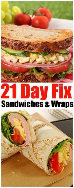 21 Day Fix sandwiches and wraps - Forget Takeout! Eat Easy and Delicious Fix Sandwiches that you can make Every Day - dont be tempted to fall off the Fix Challenge (food tips 21 day fix) Clean Eating Diet, Stop Eating, Clean Eating Recipes, Lunch Recipes, Healthy Eating, Healthy Recipes, Healthy Soup, Soup Recipes, 21dayfix Recipes