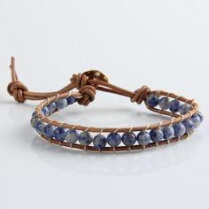 New Ethnic Handmade 1 Strands Leather Agate Beads Weave Bracelet For Women And Men