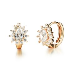 4ebef116bb98 Crystals From Swarovski Black Gold Color Earring Stainless Steel Cubic  Zirconia Stud Earrings for Women Fashion Jewelry Brincos-in Stud Earrings  from ...